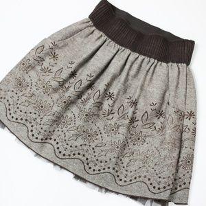 Joe Benbasset Brown Floral Skirt with Pockets
